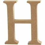 Creotime wooden letter H 8 cm