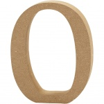Creotime wooden letter O 8 cm