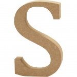 Creotime wooden letter S 8 cm