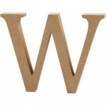Creotime wooden letter W 8 cm