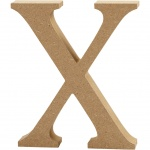 Creotime wooden letter X 8 cm