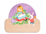 Dekori naambord Alice in Wonderland junior 12 x 17 cm hout