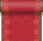 Duni chemin de table X-Mas Deco 480 cm papier rouge