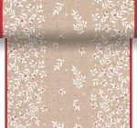 Duni chemin de table Xmas Berries 480 cm papier beige