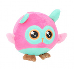 Eddy Toys ball cuddly toy owl junior 9 cm plush blue/pink