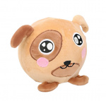 Eddy Toys ball cuddly dog junior 9 cm plush brown