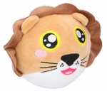 Eddy Toys ball cuddly lion junior 9 cm plush brown