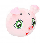 Eddy Toys ball stuffed pig junior 9 cm plush pink
