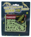 Free and Easy 3D puzzel glow in the dark 17 cm tyrannosaurus