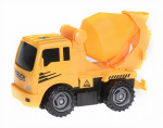 Free and Easy construction vehicle concrete mixer 17 cm yellow/black