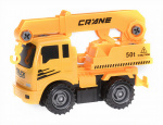 Free and Easy construction vehicle crane truck 17 cm yellow/black