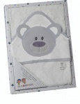 Gamberritos bath towel dog junior 100 x 100 cm grey