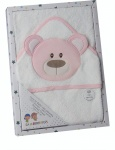 Gamberritos bath towel dog girls 100 x 100 cm pink