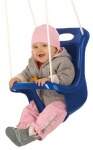 Happy People baby swing seat with rope 45 cm blue