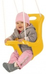 Happy People baby swing seat with rope 45 cm yellow