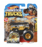 Hot Wheels monstertruck 5-Alarm 9 cm zwart/goud 2-delig
