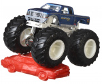 Hot Wheels monstertruck Bigfoot 9 cm blauw/wit 2-delig
