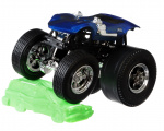 Hot Wheels monstertruck Twinmill 9 cm blauw/zilver 2-delig