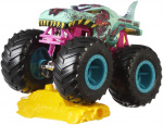 Hot Wheels monstertruck Zombie-Wrex 9 cm groen/roze 2-delig