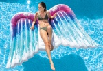 Intex luchtbed Angel Wings 251 x 106 cm multicolor