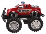 Jonotoys politiemonstertruck The Wind 12 cm rood/wit