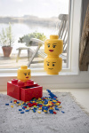 LEGO storage box head Silly large 24 x 27 cm polypropylene yellow