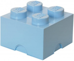 LEGO storage stone 4 studs 25 x 18 cm polypropylene light blue