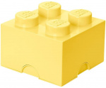 LEGO storage stone 4 studs 25 x 18 cm polypropylene light yellow