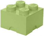 LEGO storage stone 4 studs 25 x 18 cm polypropylene light green