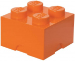LEGO storage stone 4 studs 25 x 18 cm polypropylene orange