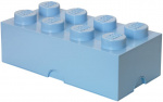 LEGO storage stone 8 studs 25 x 50 cm polypropylene light blue