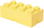 LEGO storage stone 8 studs 25 x 50 cm polypropylene light yellow