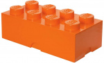 LEGO storage stone 8 studs 25 x 50 cm polypropylene orange