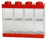 LEGO display case 8 mini figures 19.1 x 18.4 cm polypropylene red