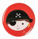 LG-Imports button pirate boys 4,5 cm red