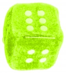 LG-Imports cuddly toy dice 4,5 cm green