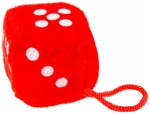 LG-Imports cuddly toy dice 4,5 cm red