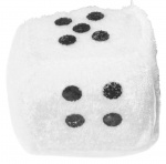 LG-Imports cuddly toy dice 4,5 cm white