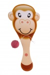 LG-Imports racket with ball monkey 23 cm brown