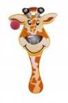LG-Imports racket with ball giraffe 23 cm yellow/orange