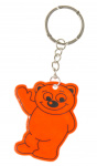 LG-Imports keychain bear junior 6 cm rubber orange