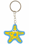 LG-Imports keychain starfish junior 5 cm rubber blue