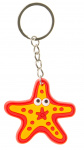 LG-Imports keychain starfish junior 5 cm rubber red