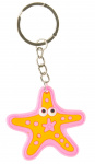 LG-Imports keychain starfish junior 5 cm rubber pink