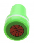 stempel basketbal groen/wit