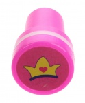 stempel kroon roze/wit