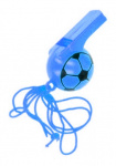 LG-Imports soccer whistle boys 25 cm blue 2-piece