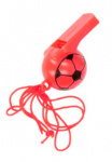 LG-Imports soccer whistle boys 25 cm red 2-piece