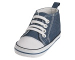 Playshoes babyschoenen Canvas junior jeansblauw