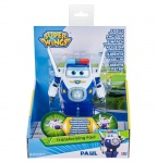 Super Wings speelfiguur Transforming! Paul 12 cm wit/blauw